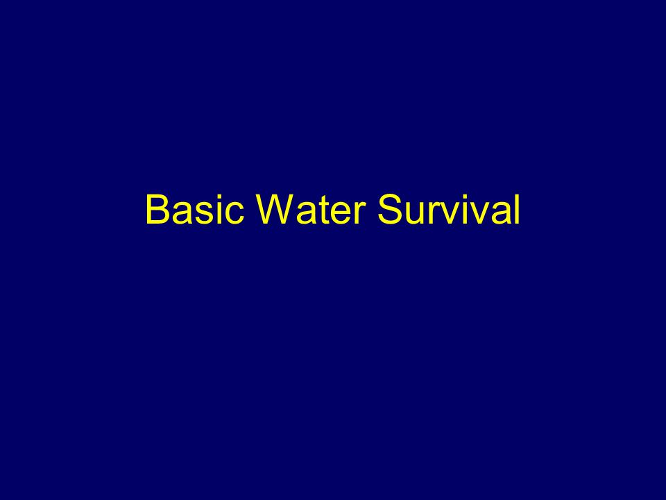 Basic Water Survival