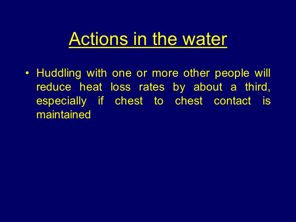 Actions in the water