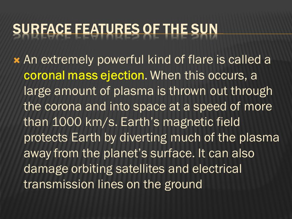 Surface Features of the Sun