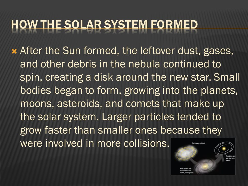 How the Solar System Formed