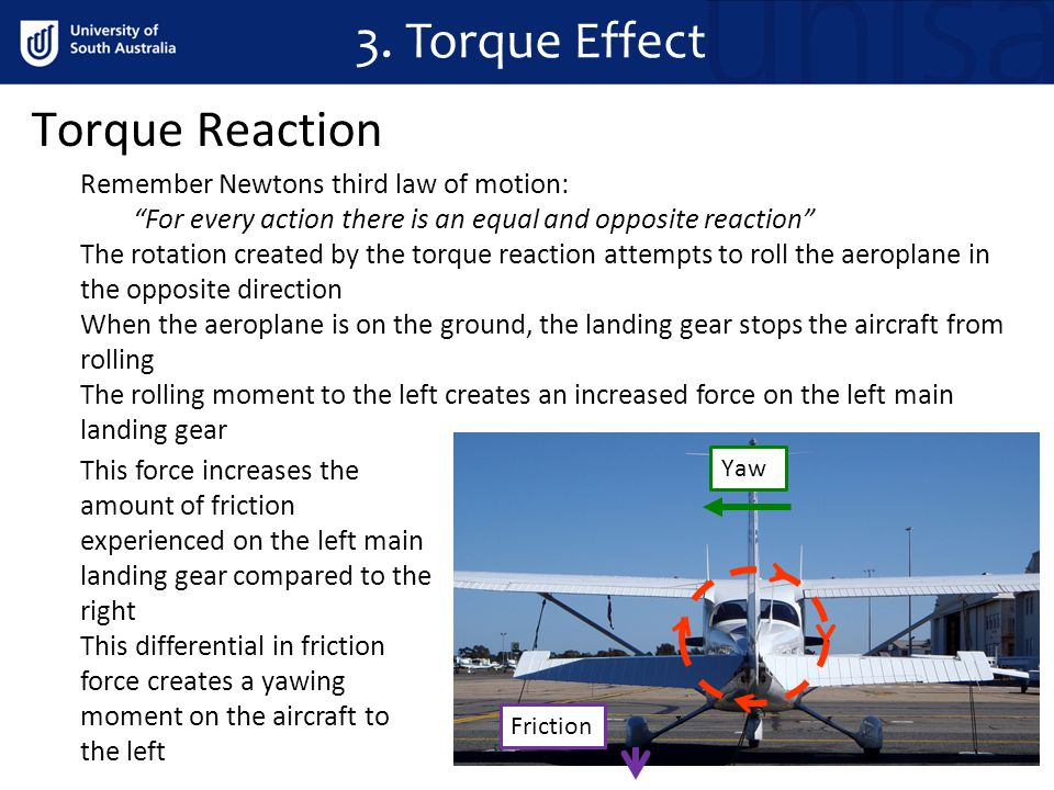 3. Torque Effect Torque Reaction Remember Newtons third law of motion:
