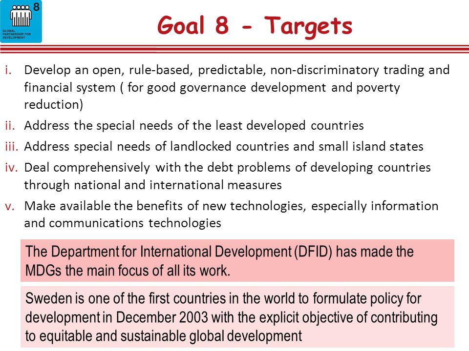 Goal 8 - Targets