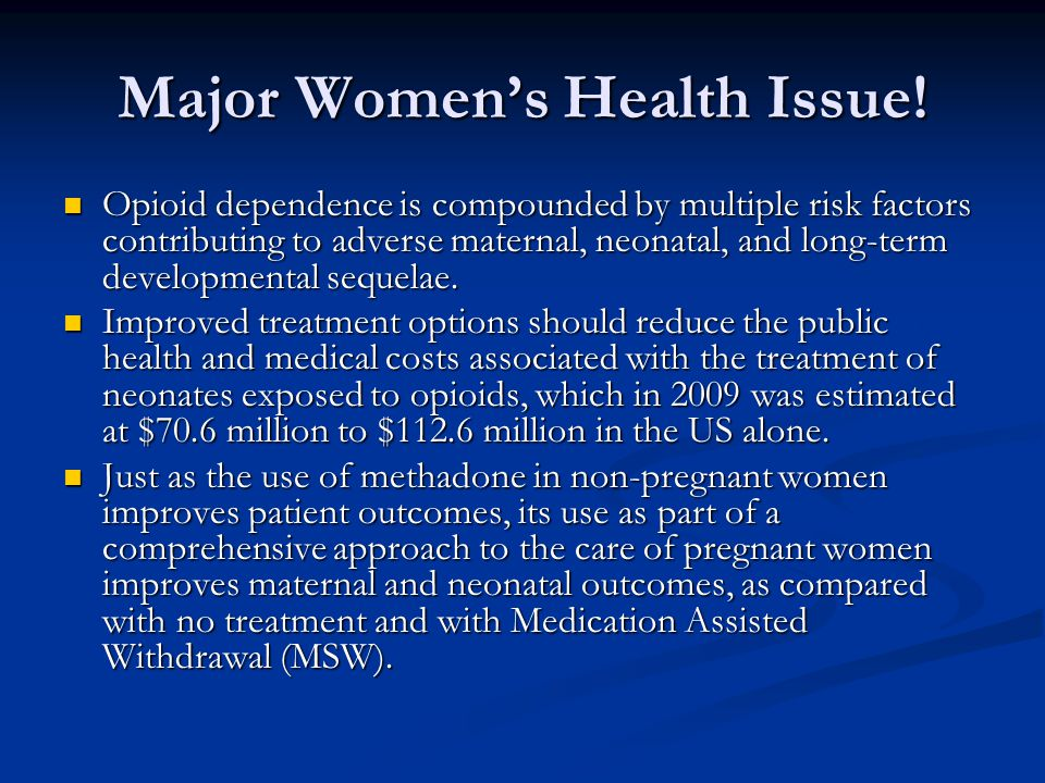 Major Women's Health Issue!
