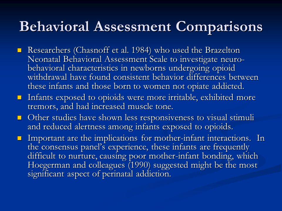 Behavioral Assessment Comparisons