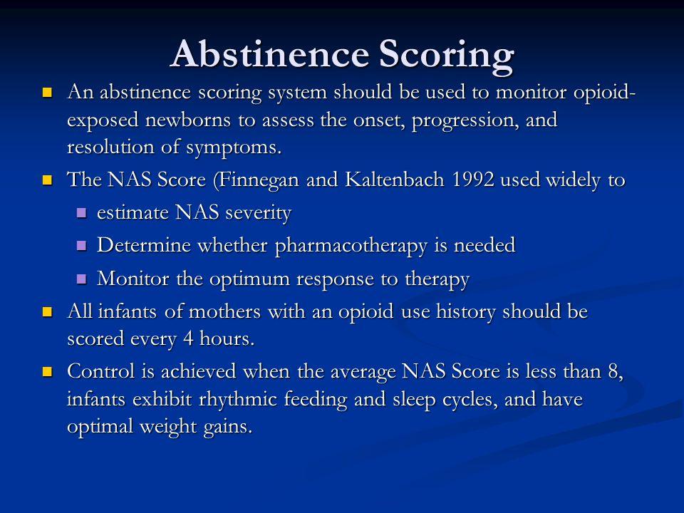 Abstinence Scoring