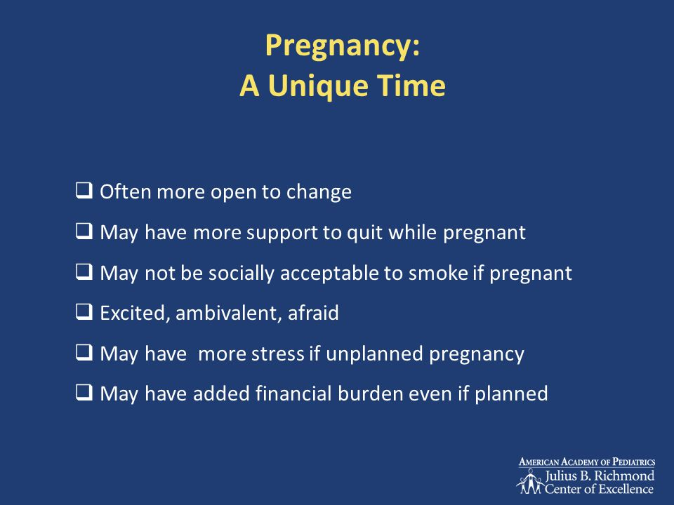 Pregnancy: A Unique Time