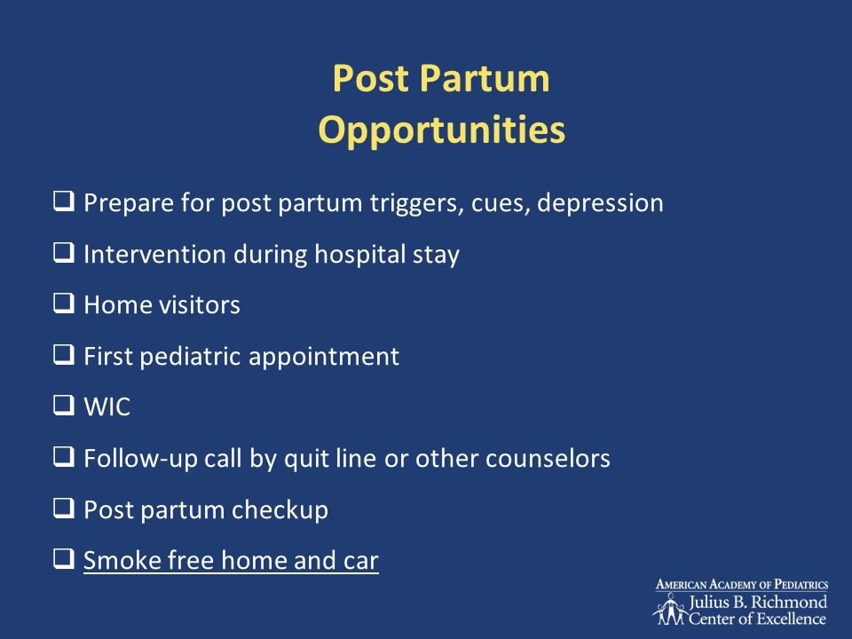 Post Partum Opportunities