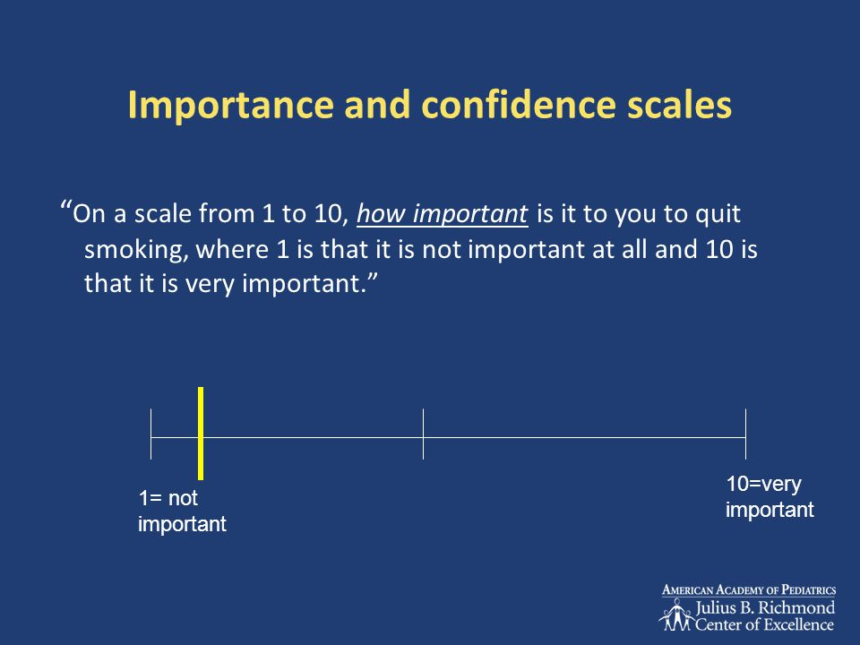 Importance and confidence scales