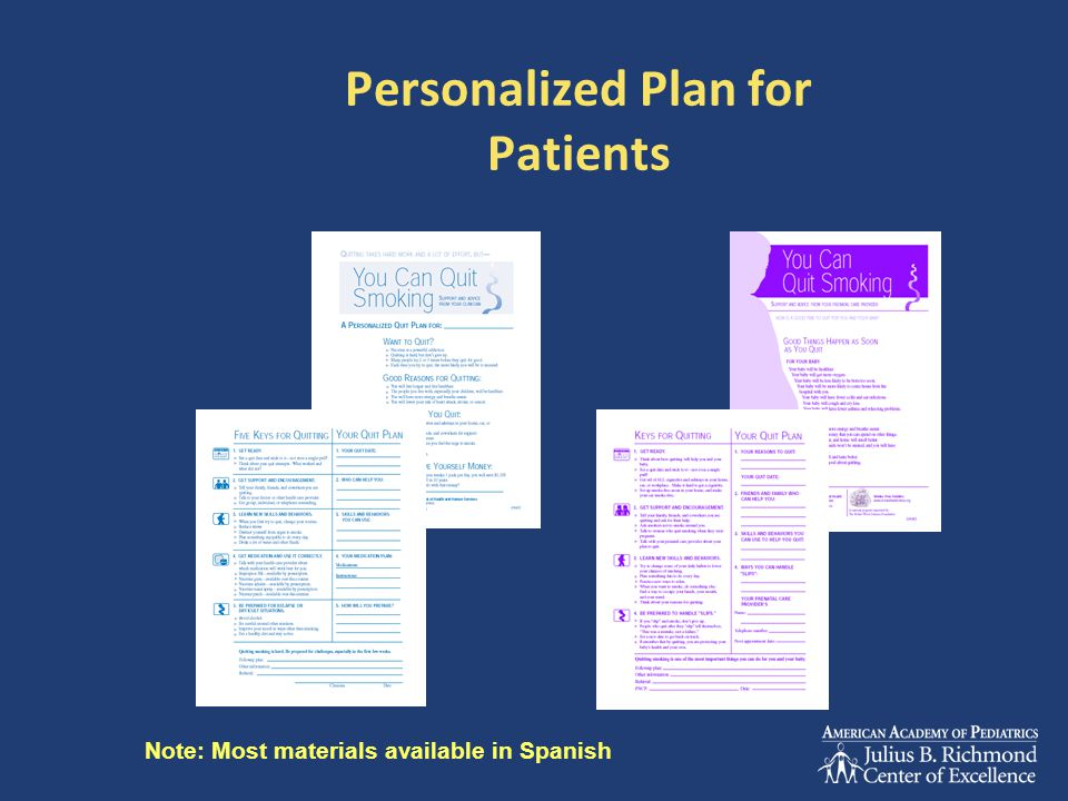 Personalized Plan for Patients