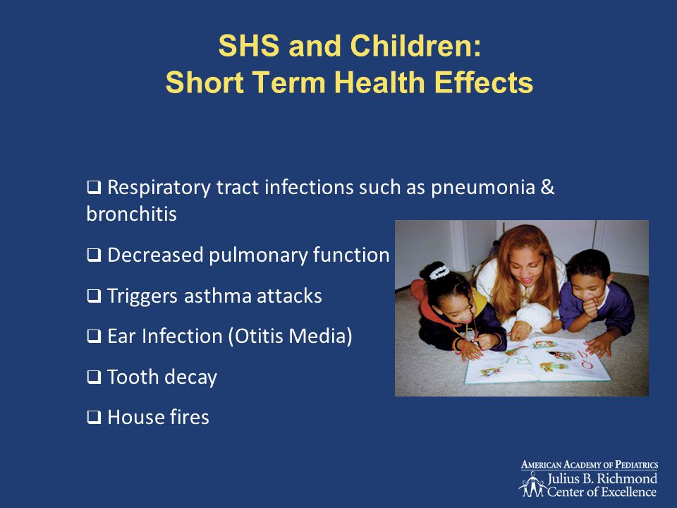 SHS and Children: Short Term Health Effects