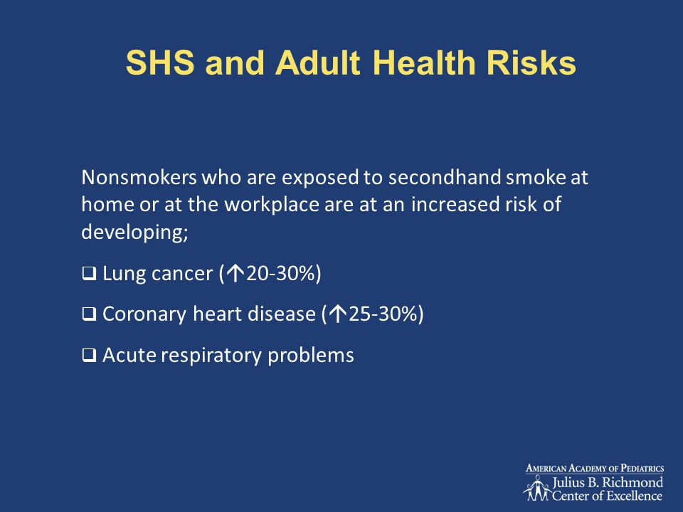 SHS and Adult Health Risks