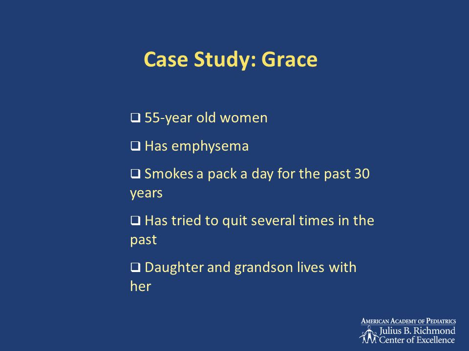Case Study: Grace 55-year old women Has emphysema