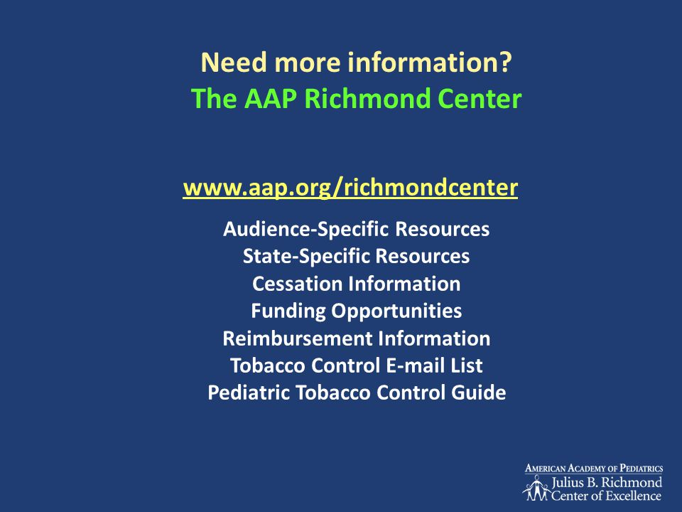 Need more information The AAP Richmond Center