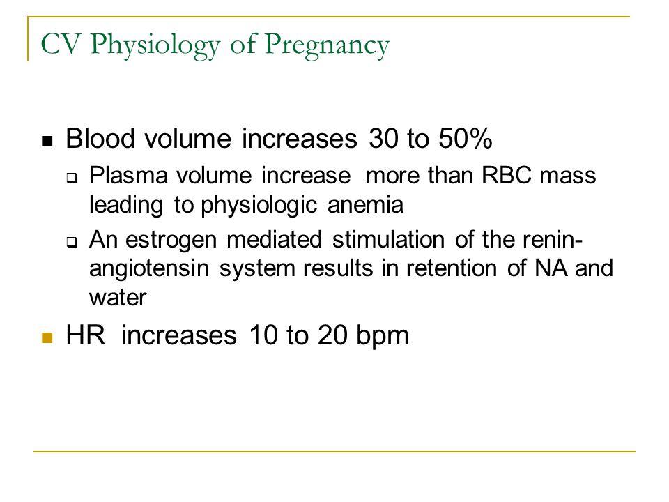 CV Physiology of Pregnancy