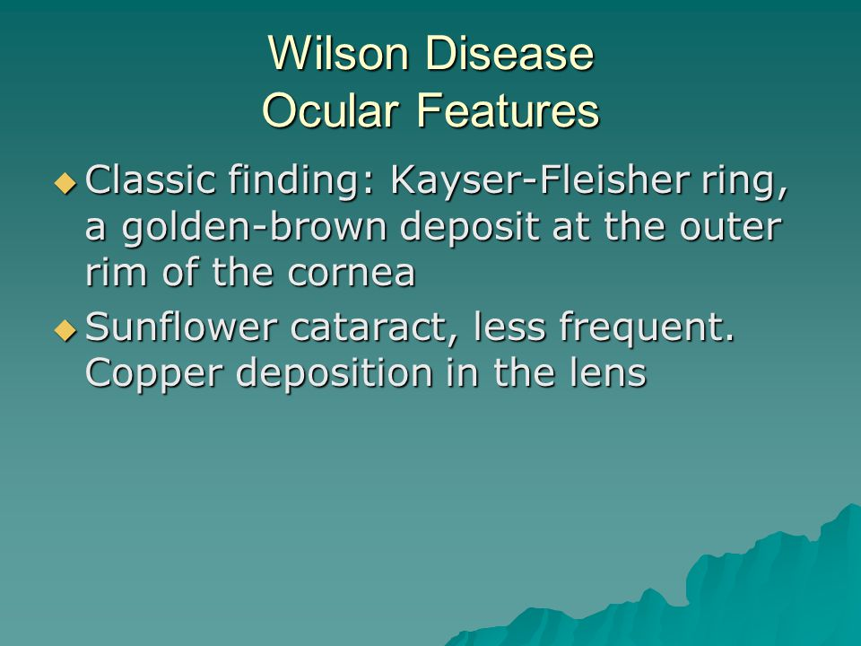 Wilson Disease Ocular Features