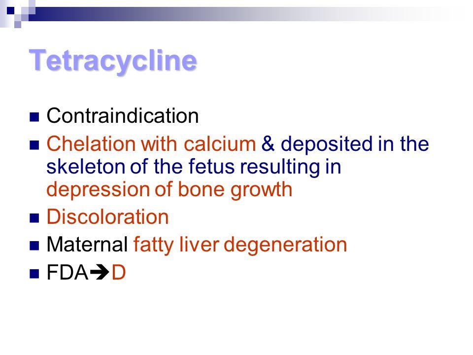 Tetracycline Contraindication