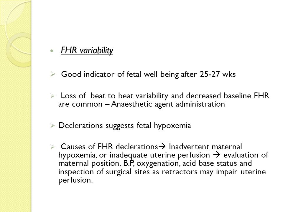 Good indicator of fetal well being after 25-27 wks