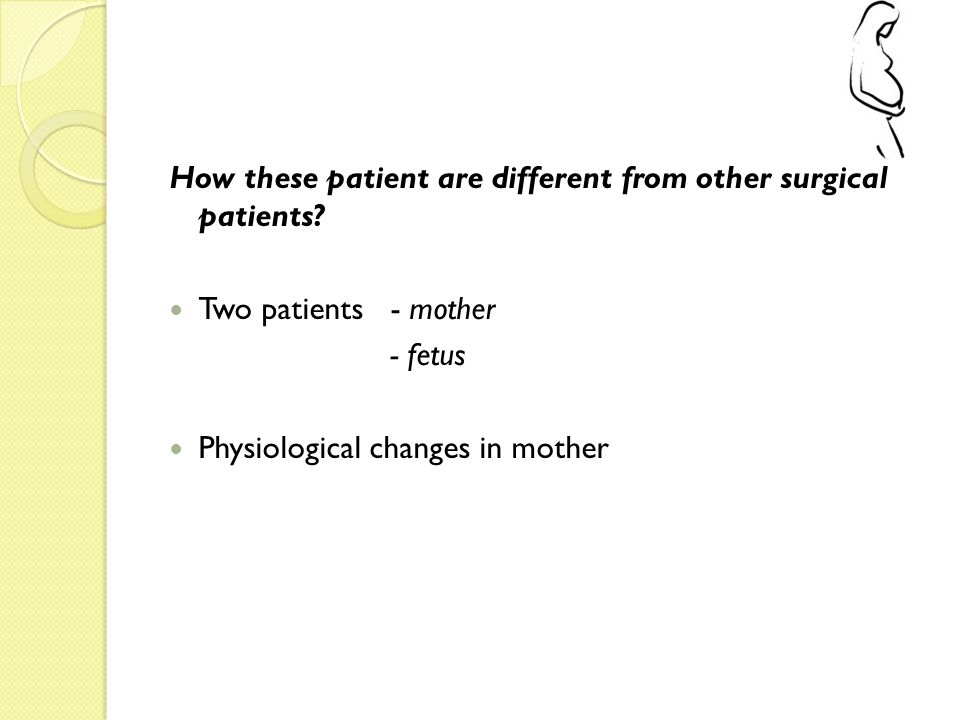 How these patient are different from other surgical patients