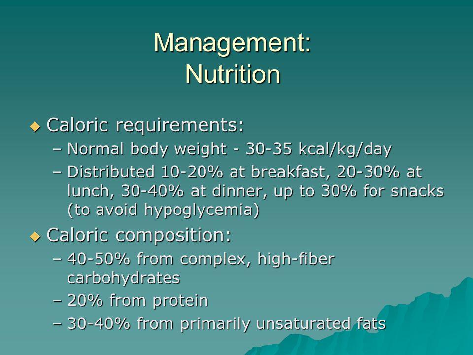 Management: Nutrition