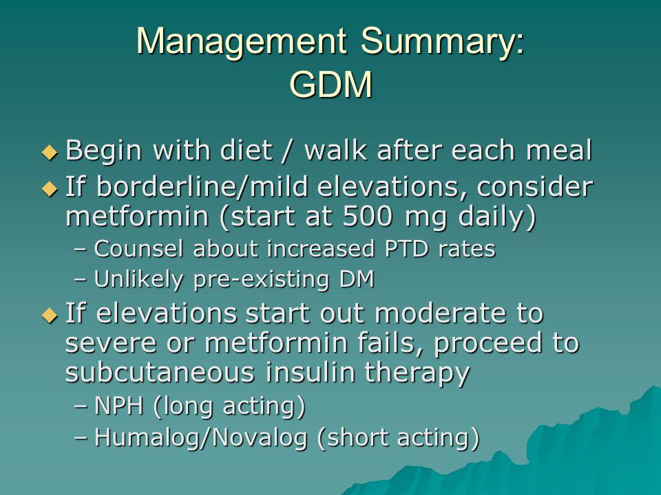 Management Summary: GDM