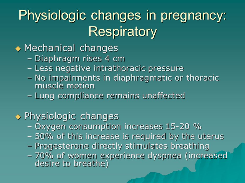 Physiologic changes in pregnancy: Respiratory