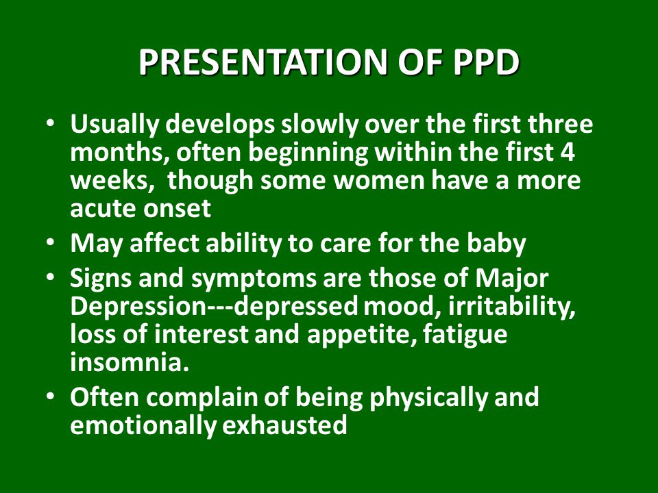 PRESENTATION OF PPD