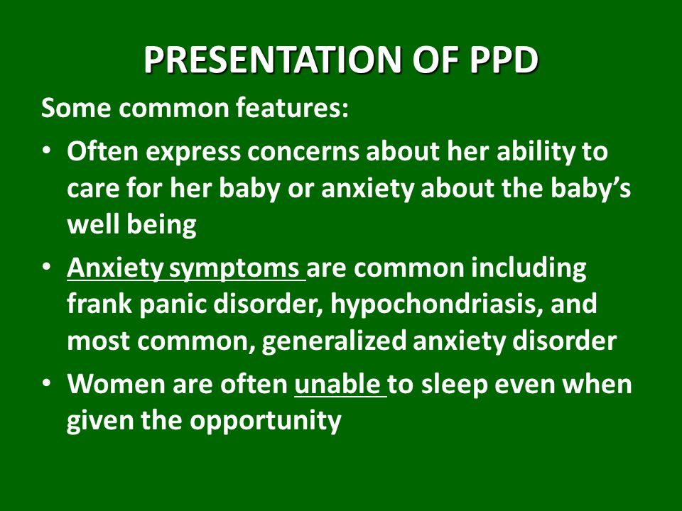 PRESENTATION OF PPD Some common features: