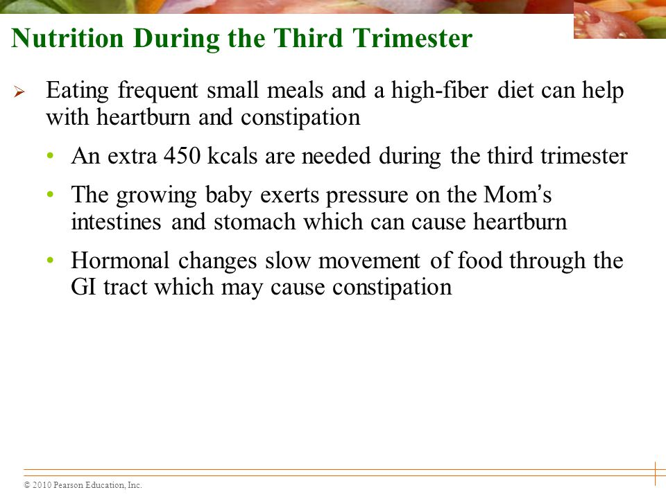 Nutrition During the Third Trimester