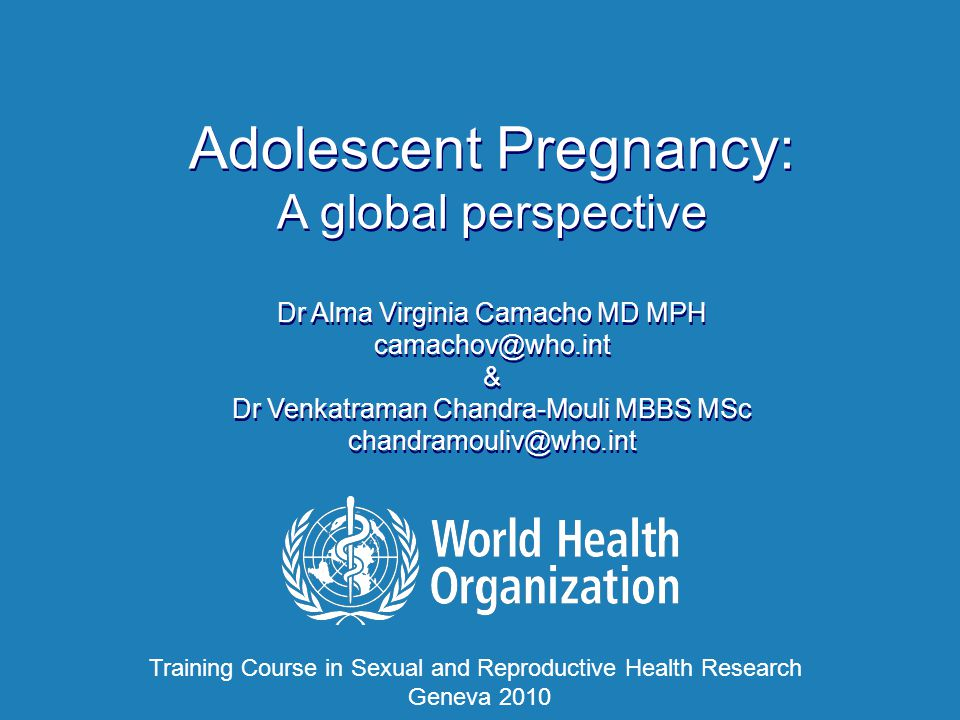 Training Course in Sexual and Reproductive Health Research