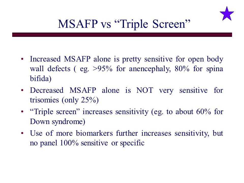 MSAFP vs Triple Screen