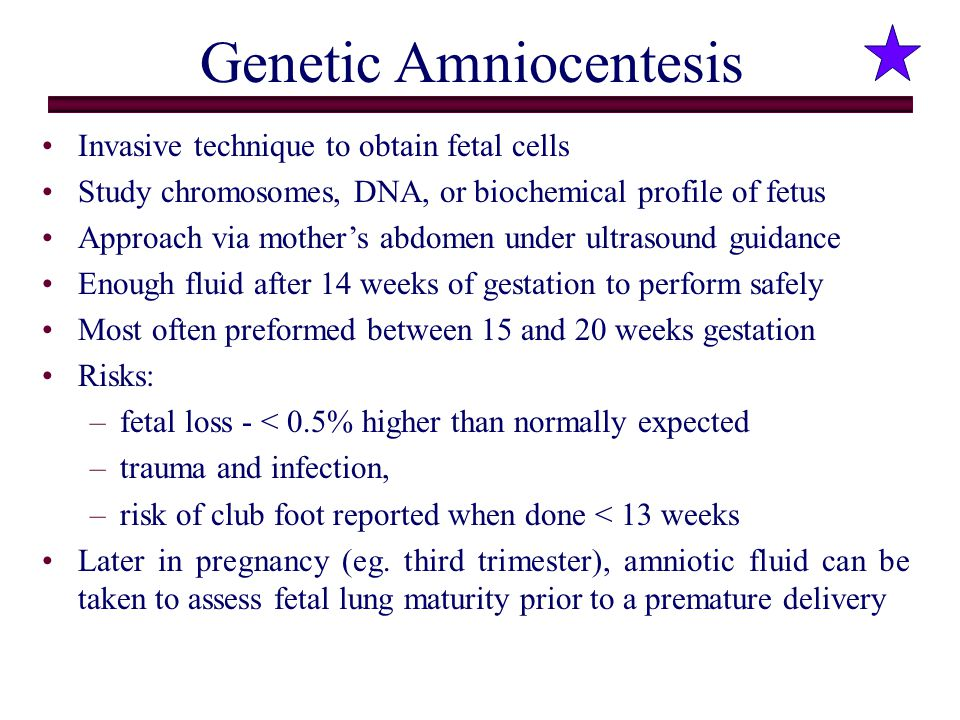 Genetic Amniocentesis