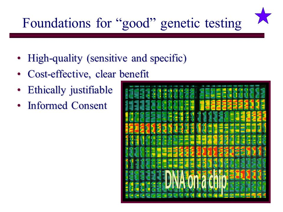 Foundations for good genetic testing
