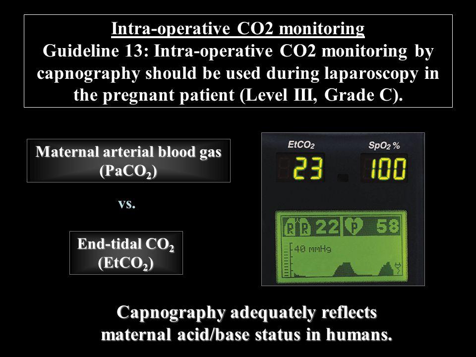 Capnography adequately reflects maternal acid/base status in humans.