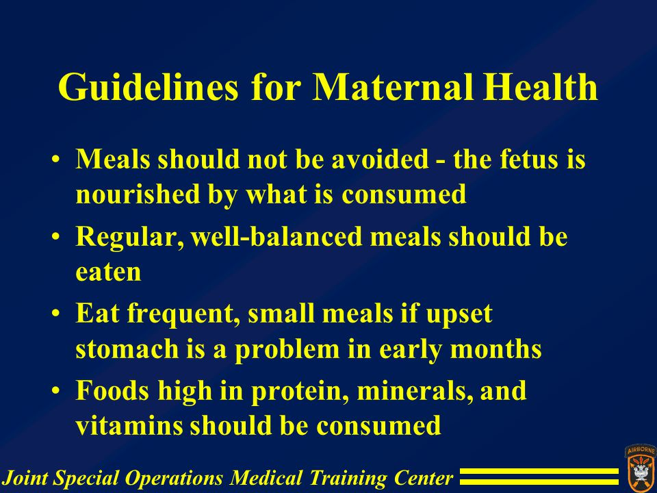 Guidelines for Maternal Health
