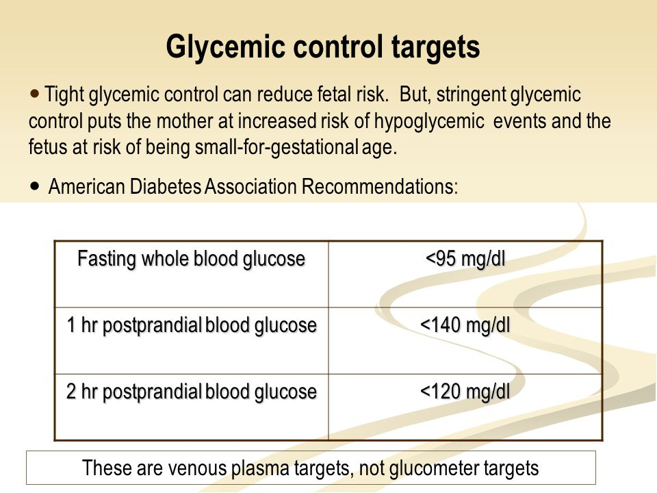 Glycemic control targets