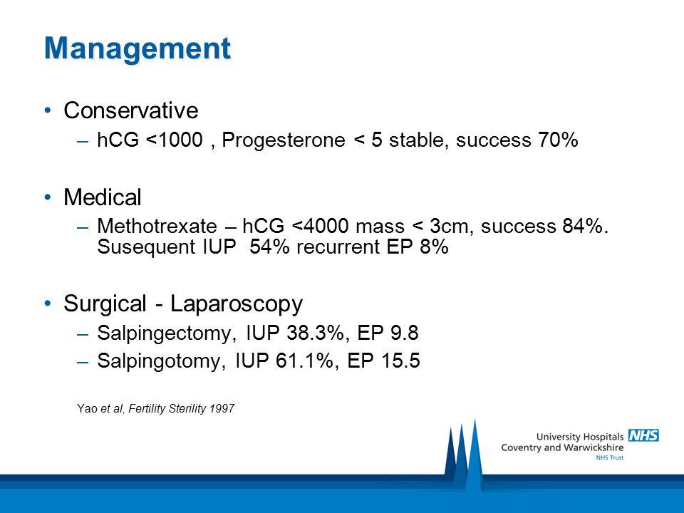 Management Conservative Medical Surgical - Laparoscopy