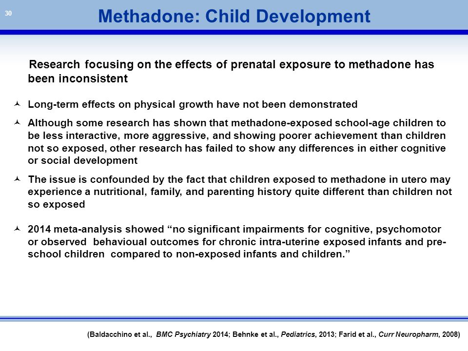 Methadone: Child Development