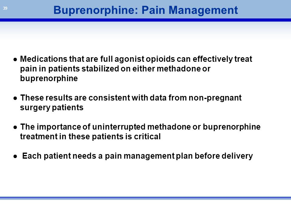 Buprenorphine: Pain Management