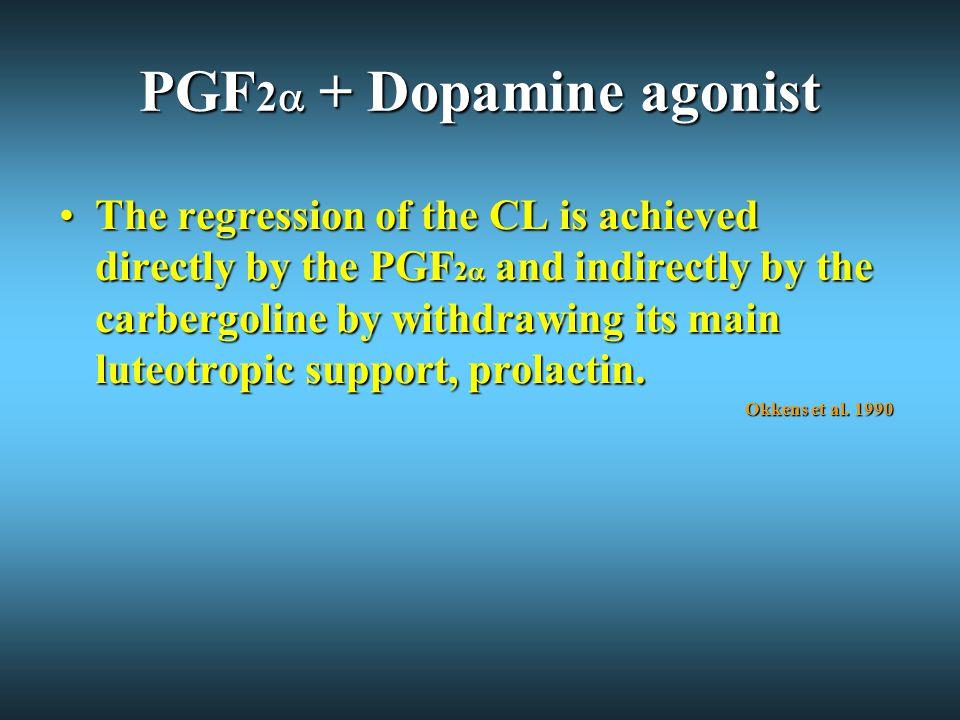 PGF2 + Dopamine agonist
