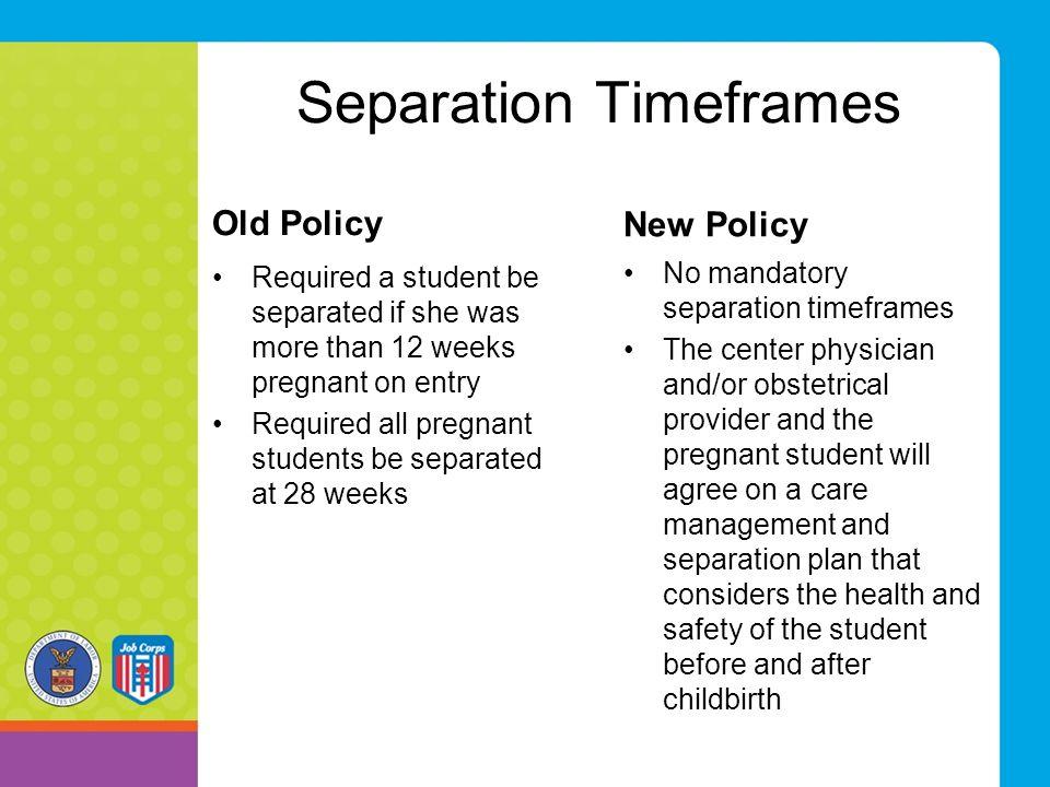 Separation Timeframes