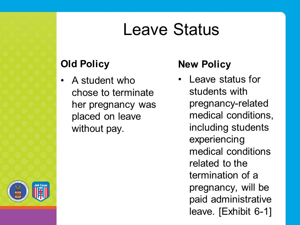Leave Status Old Policy New Policy