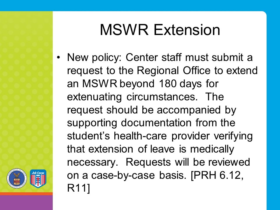 MSWR Extension