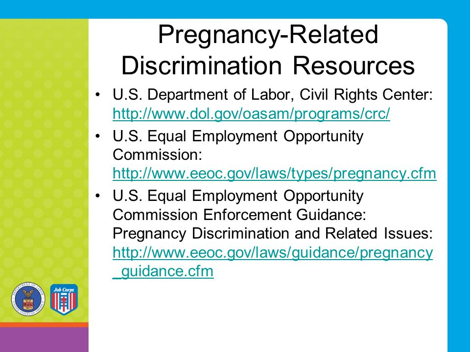 Pregnancy-Related Discrimination Resources