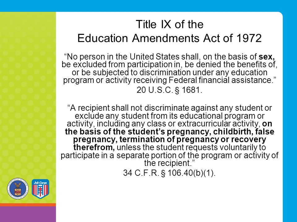 Title IX of the Education Amendments Act of 1972