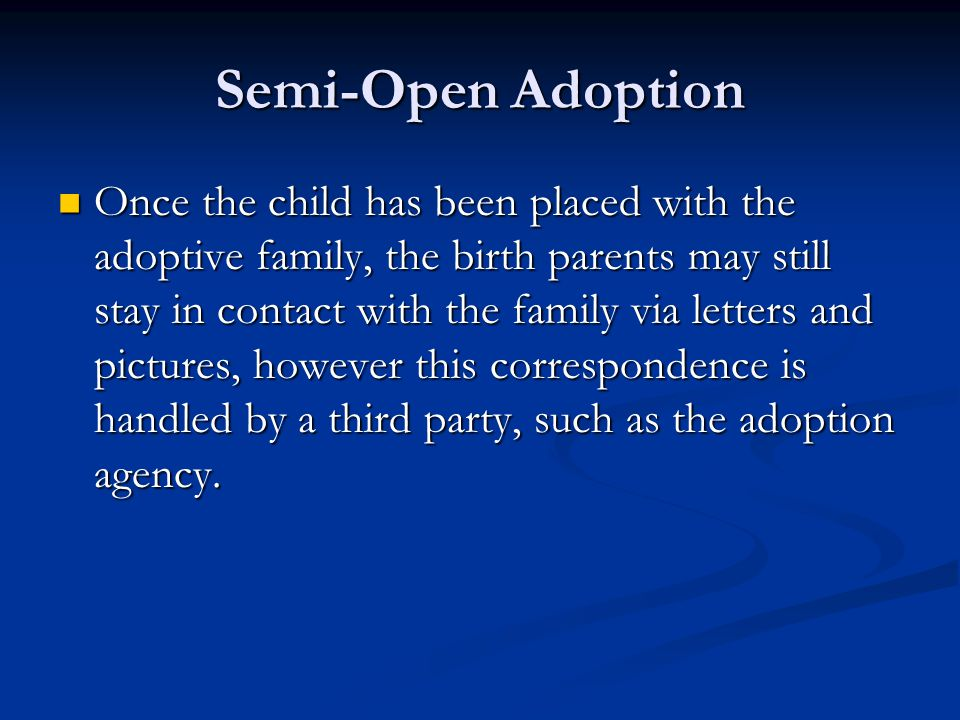 Semi-Open Adoption