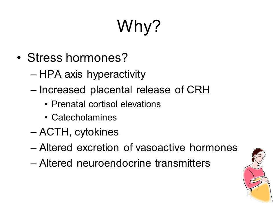 Why Stress hormones HPA axis hyperactivity
