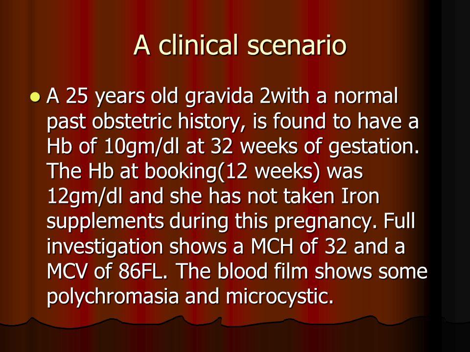 A clinical scenario