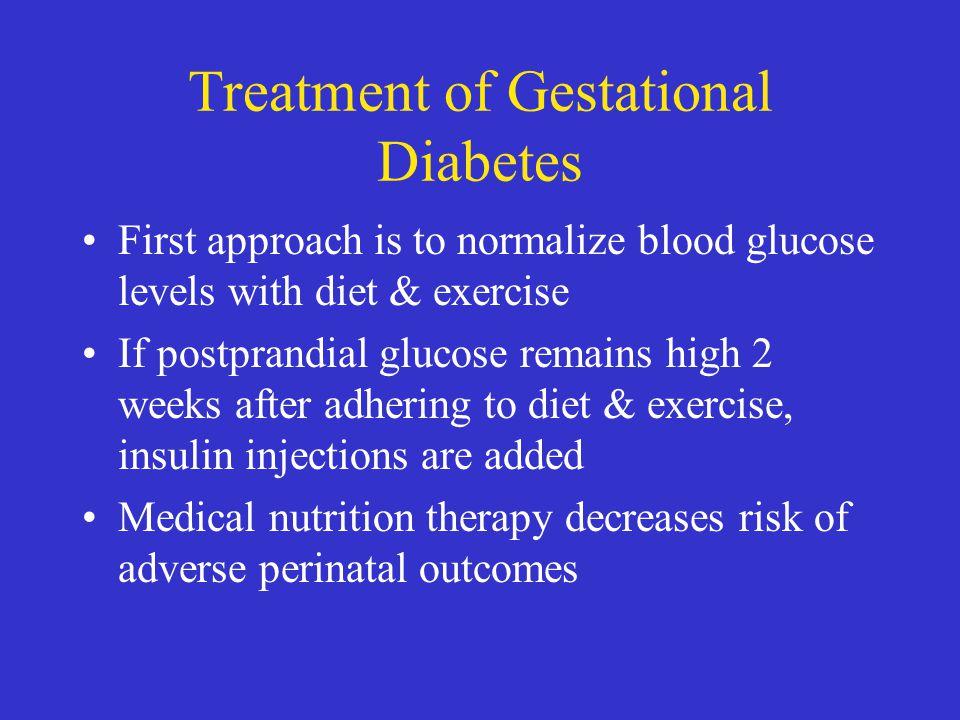 Treatment of Gestational Diabetes