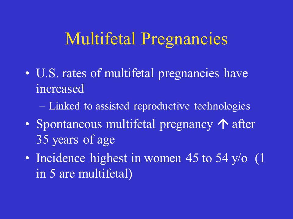 Multifetal Pregnancies