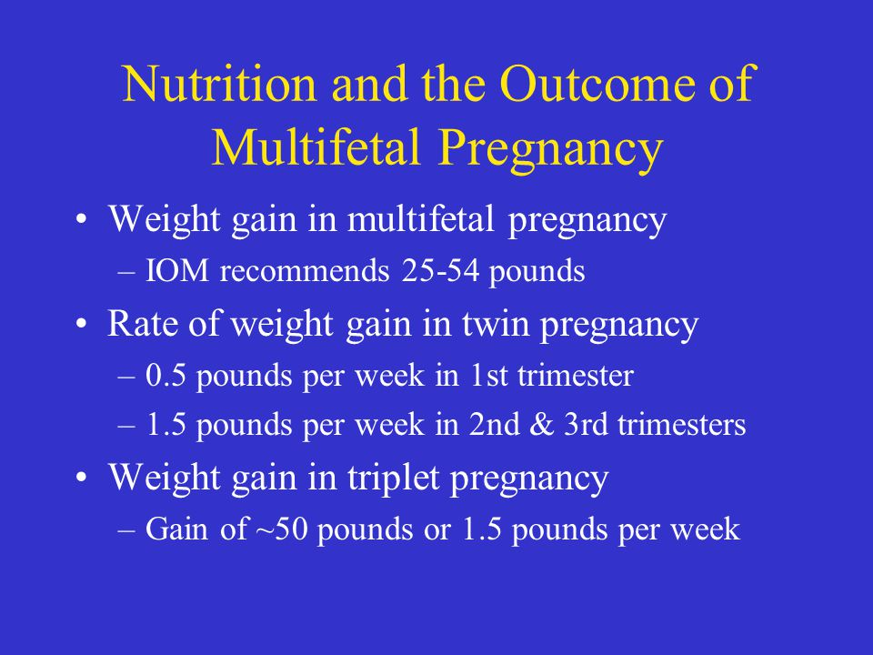 Nutrition and the Outcome of Multifetal Pregnancy